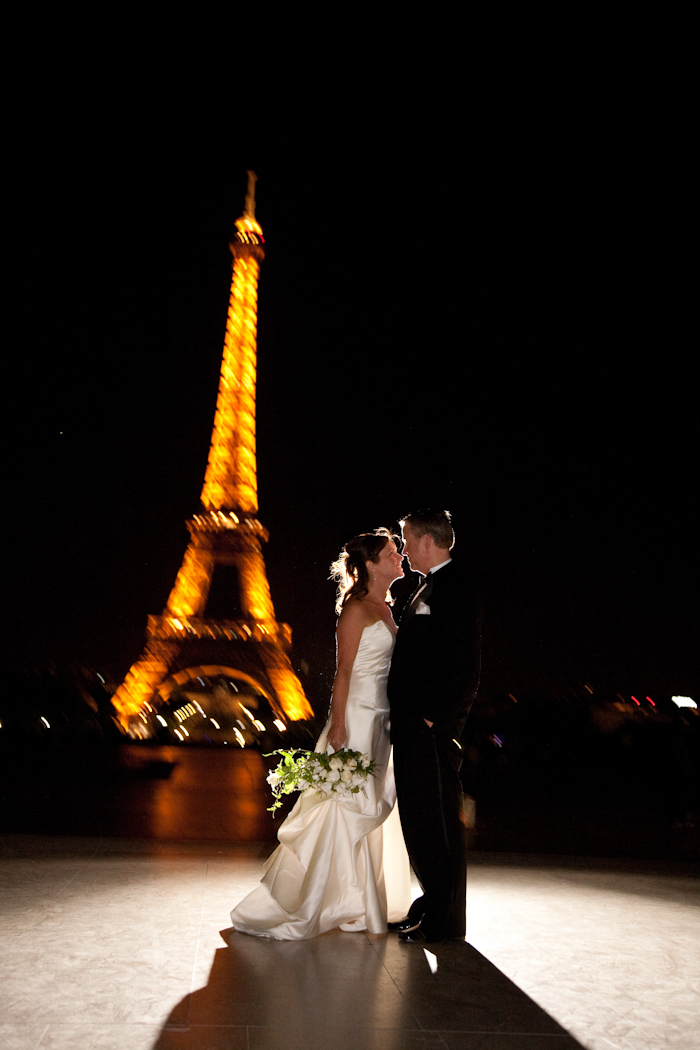 Eiffel Tower Paris France wedding photograph
