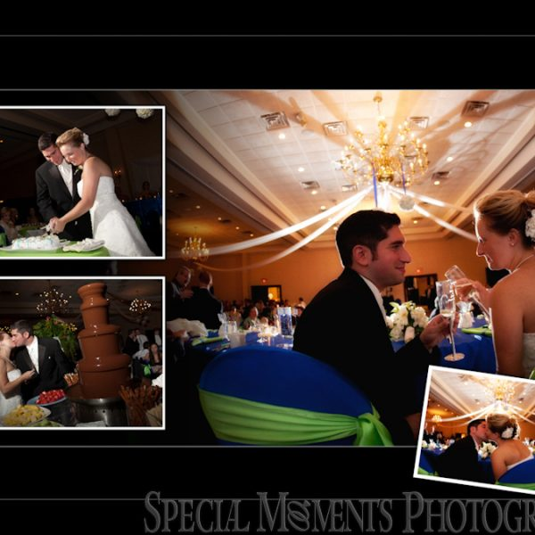Josh & Kristen's coffee table album design from their Kensington Court Ann Arbor wedding & reception