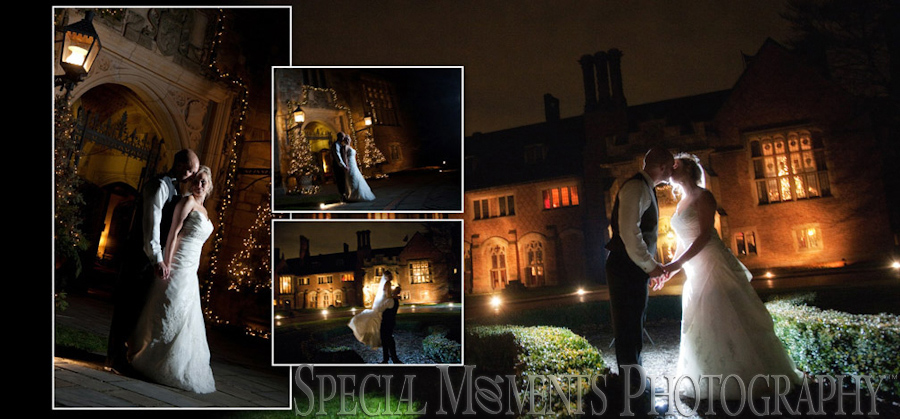 Meadow Brook Hall Rochester wedding reception photographs