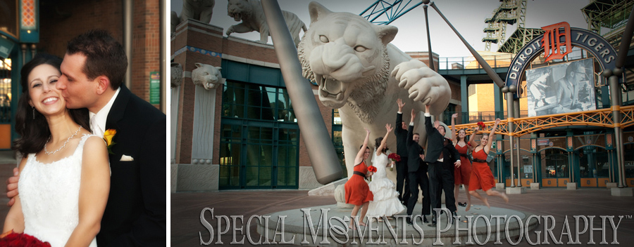 Comerica Park, Tiger Stadium Detroit wedding