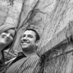 Downtown Ann Arbor engagement photograph