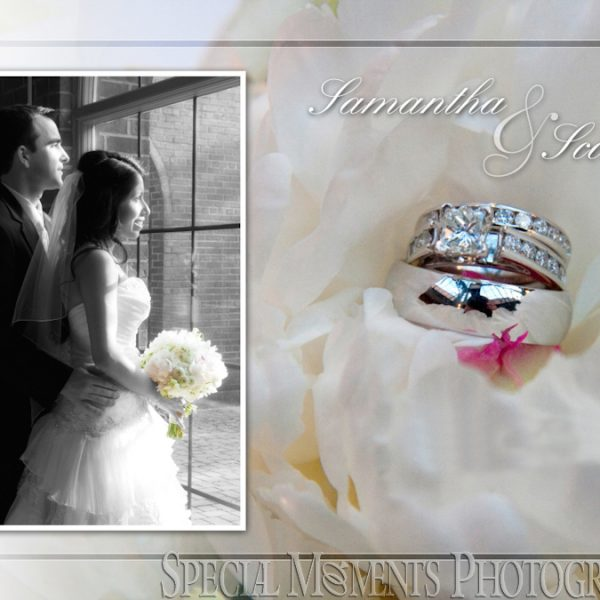 Scott & Samantha's wedding album design - Inn at St. John Plymouth Atrium Ballroom Plymouth MI