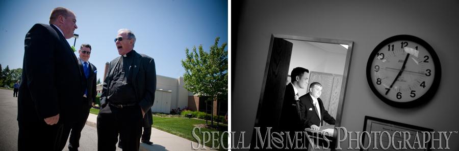 St. Roch Catholic wedding photograph Flat Rock MI
