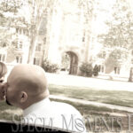 Law Quad Ann Arbor engagement photograph
