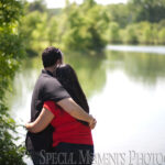 Gallup Park Ann Arbor MI engagement photograph