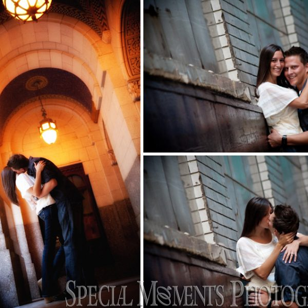 Diana & Kyle's Downtown Detroit Engagement Photos MI