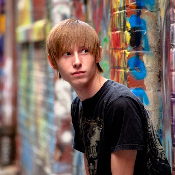 Tristan's Senior Portraits shot in Graffiti Alley Ann Arbor