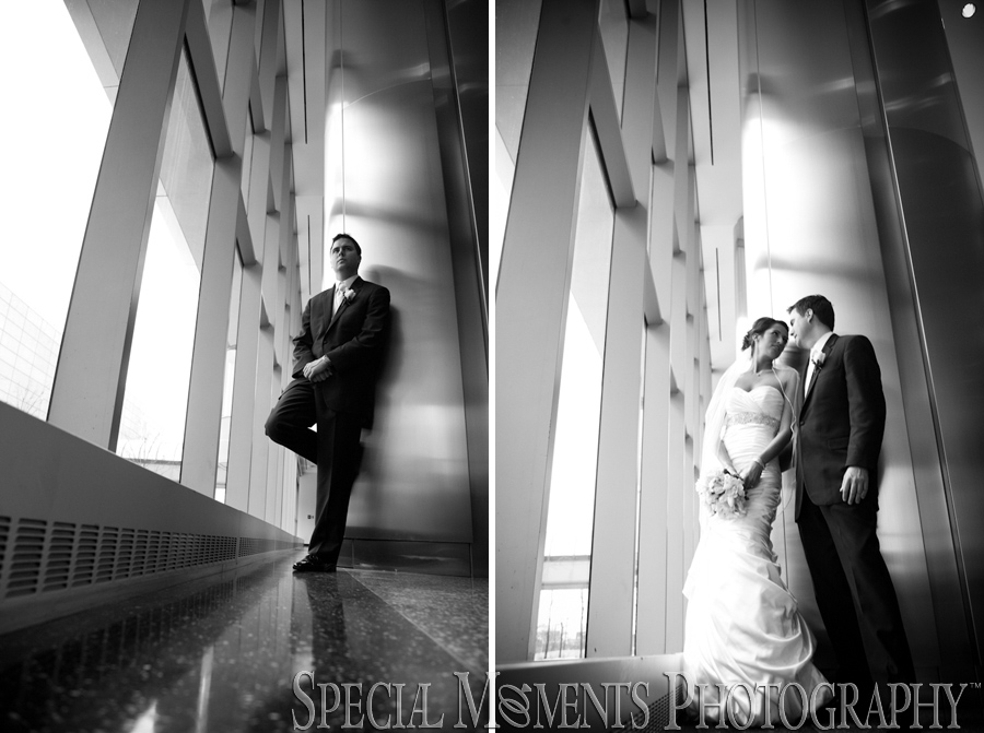 Downtown Detroit wedding photographs
