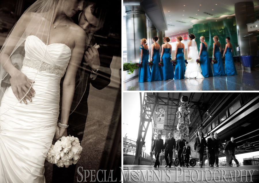 Downtown Detroit wedding photograph