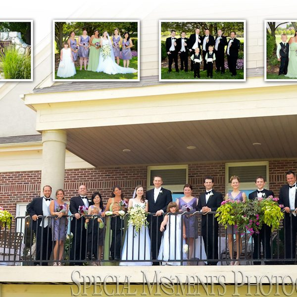 Andrew & Valerie's wedding album layout: St. Francis of Assisi & Polo Fields Ann Arbor Wedding