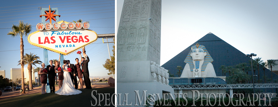 Downtown Las Vegas wedding photograph