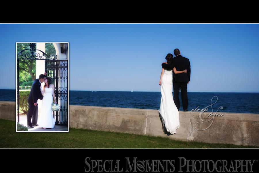 Grosse Pointe War Memorial wedding photograph Grosse Pointe Farms MI