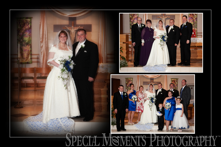 St. Roch Catholic Flat Rock MI wedding photography.