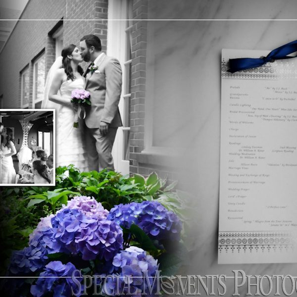 Jason & Kristin's wedding album design First United Methodist Plymouth MI Wedding & Reception at The Inn at St. John Atrium Ballroom Plymouth MI