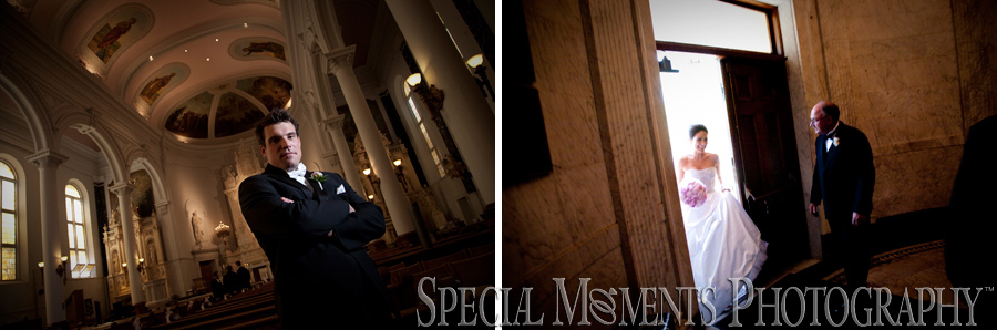 St. Peter & Paul Jesuit wedding photograph Detroit MI