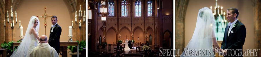 St. Ambrose Catholic wedding photograph Grosse Pointe Park