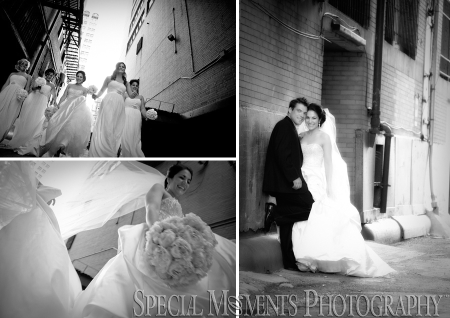Downtown Detroit MI wedding photograph