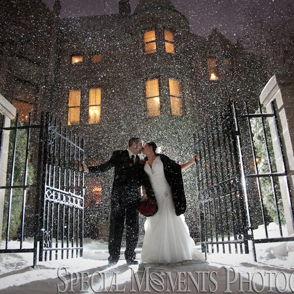 Bianca & Jack's Christmas Wedding in a Snow Storm photographed at The Whitney Detroit Wedding