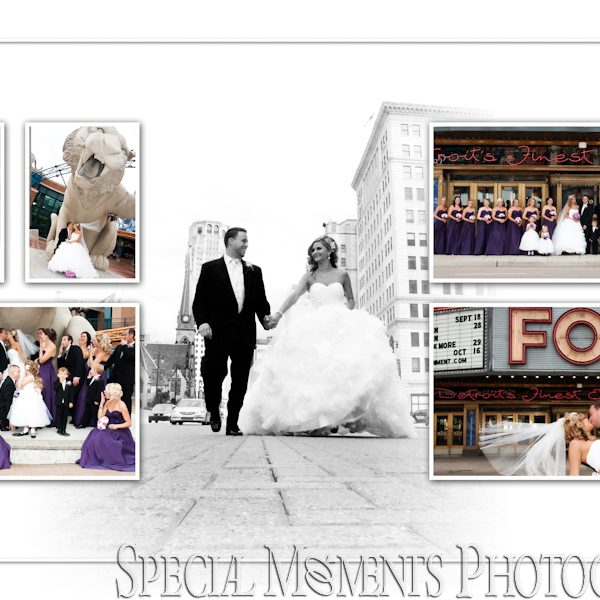 Brooke & Brad's album design from St. Ambrose Catholic Wedding Grosse Pointe Park & Villa Penna Wedding Reception Sterling Heights MI