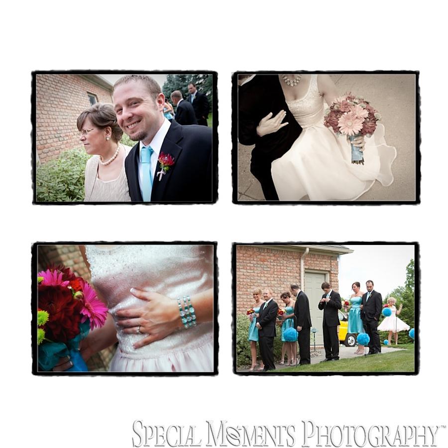Home wedding & reception photography MI