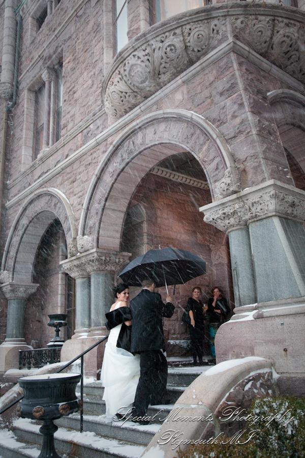 The Whitney Detroit wedding photograph