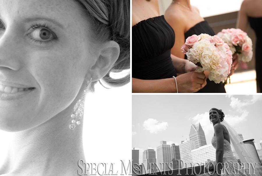 Detroit Marriott at the Renaissance Center wedding photograph