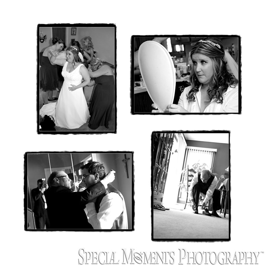 Home getting ready wedding photos MI