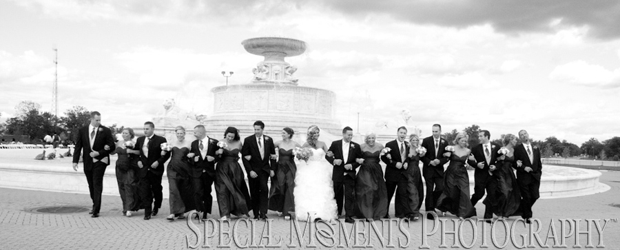 Downtown Detroit MI wedding