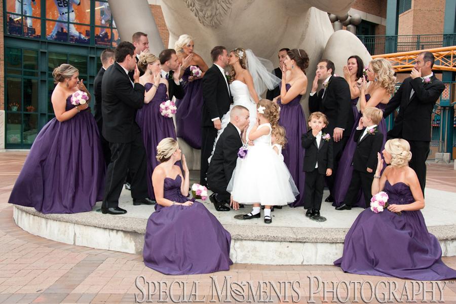 Downtown Detroit MI wedding