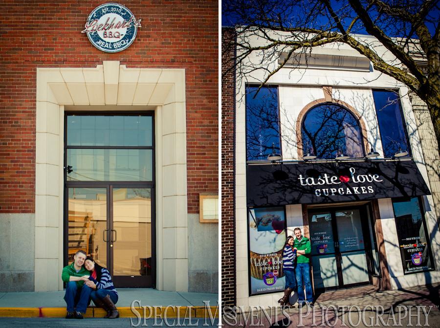 Downtown Royal Oak Engagement photograph