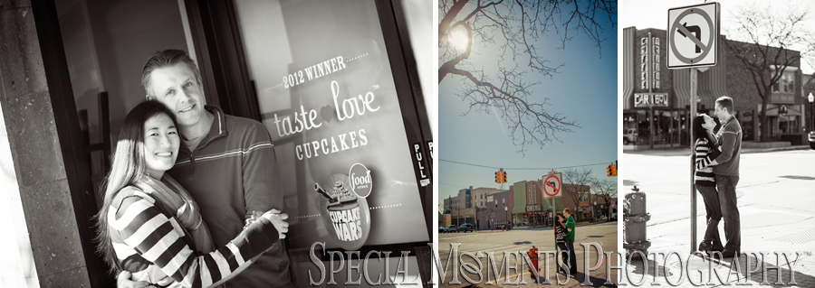 Downtown Royal Oak Engagement photograph