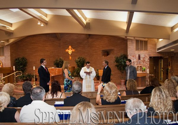 Lesnie & Howard's renewal of vows photography at St. Fabian Farmington Hills MI