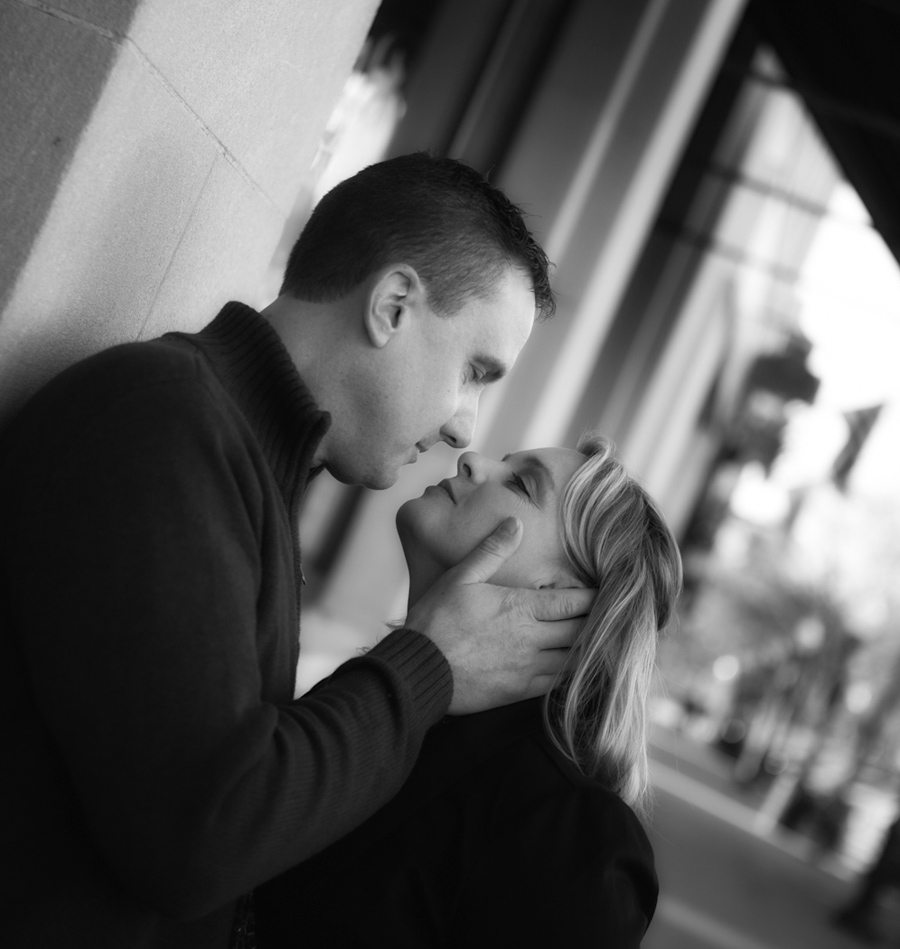 Downtown Plymouth Engagement photograph