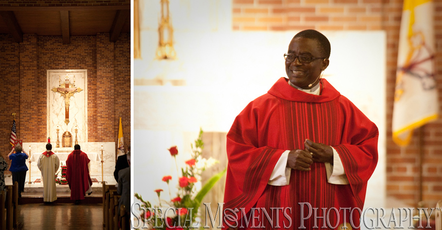 St. André Bessette Catholic Ecorse MI wedding photograph