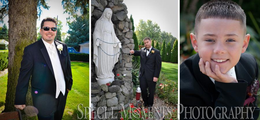 St. Stephen Catholic New Boston MI wedding photograph