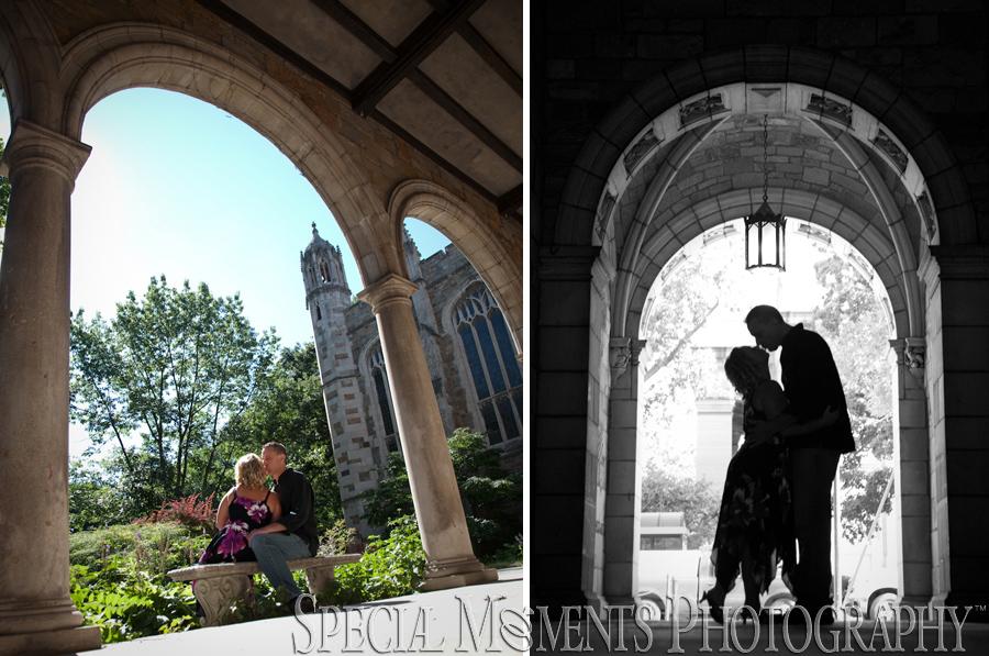 Downtown Ann Arbor Engagement photograph