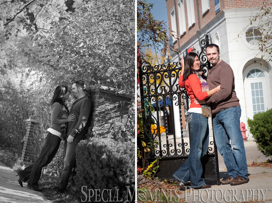 Downtown Plymouth MI engagement