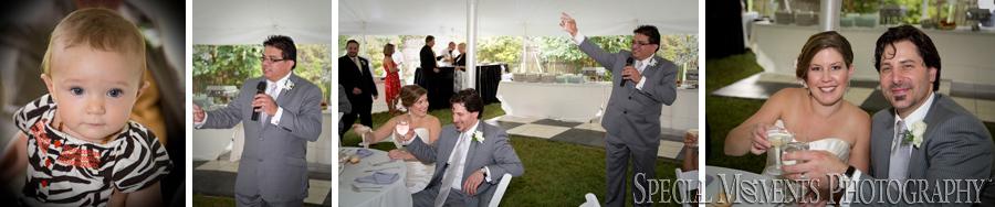 Home wedding reception MI photograph
