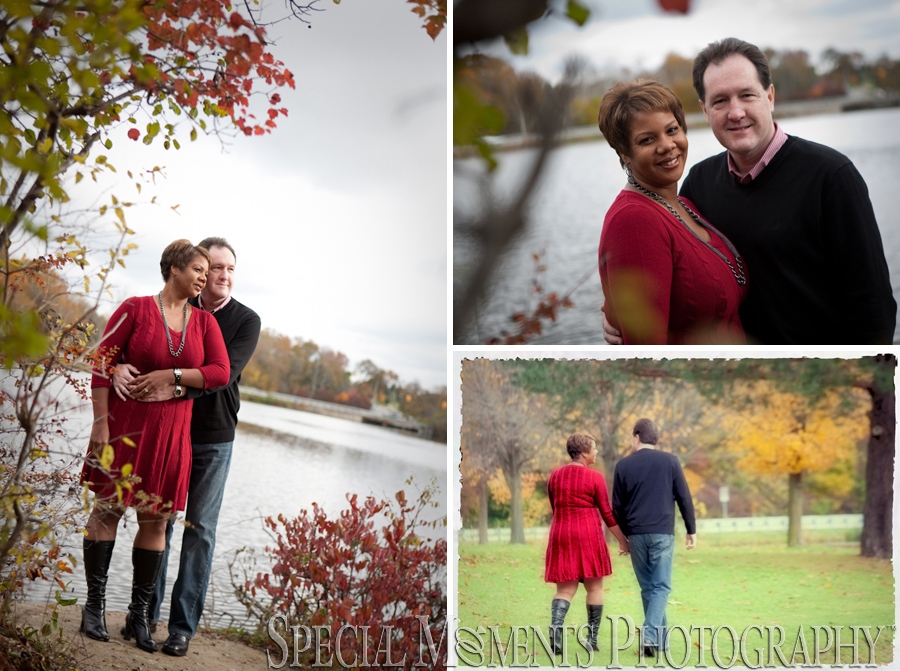 Wilcox Lake Plymouth MI engagement photograph