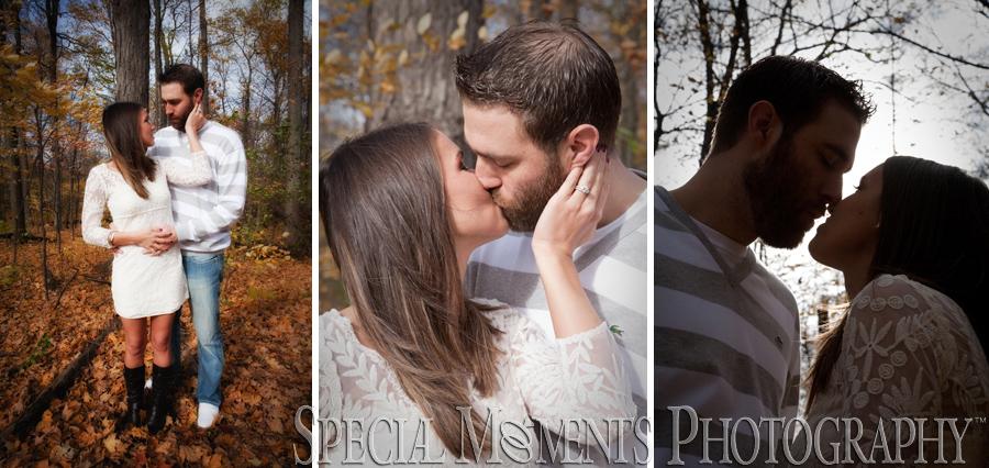Hines Park Northville MI engagement photograph