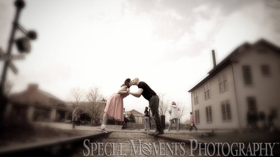 Greenfield Village Dearborn MI Engagement photograph