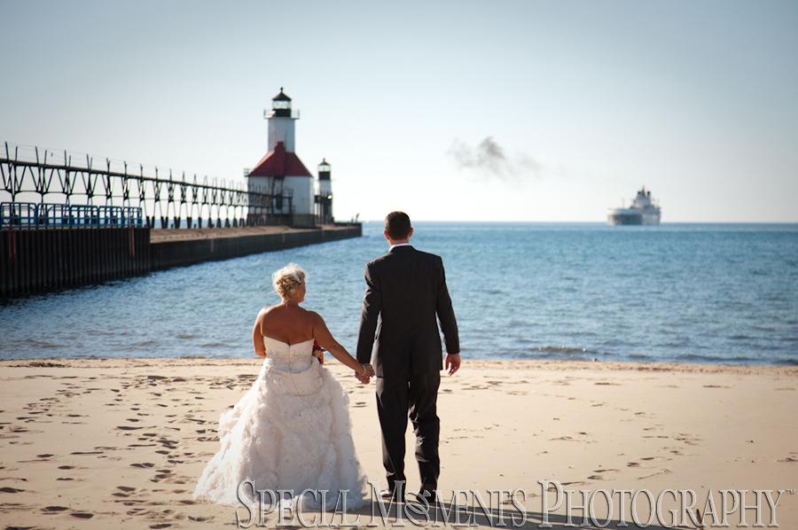Tiscornia Park Pier St Joseph Mi Wedding Photograph