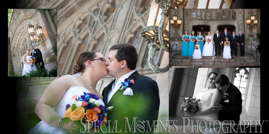 Law Quad & Downtown Ann Arbor MI wedding photograph