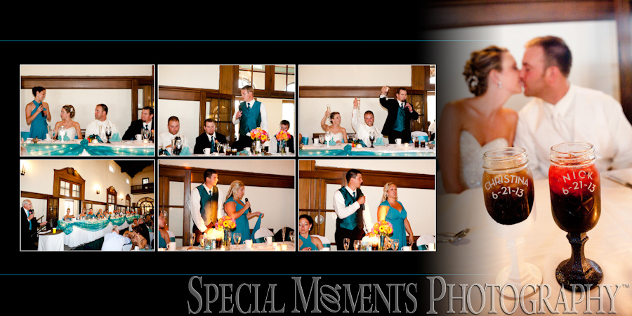 Detroit Yacht Club Detroit MI wedding reception photographs