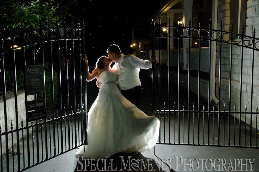 Wellers Saline MI wedding reception gate photograph