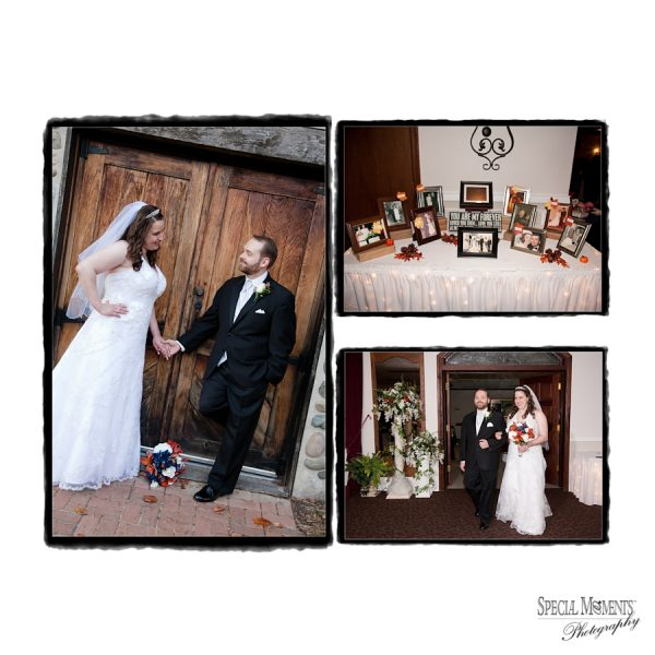 Brian & Catherine's Vintage Gallery Wedding Album Design: Mill Race Village Northville & Joy Manor Westland Wedding Reception