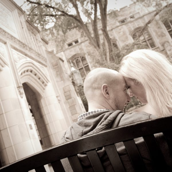 Jessica & John's Fall Engagement Photos in Ann Arbor Michigan at the Law School