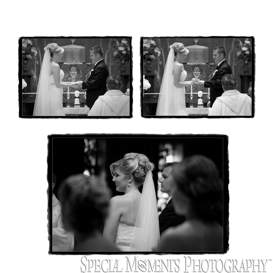 Morgan & Patrick St. John Catholic Fenton MI wedding photograph