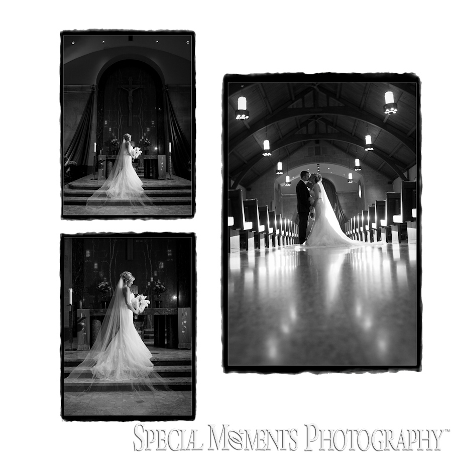 Morgan & Patrick St. John Catholic Fenton MI wedding photograph