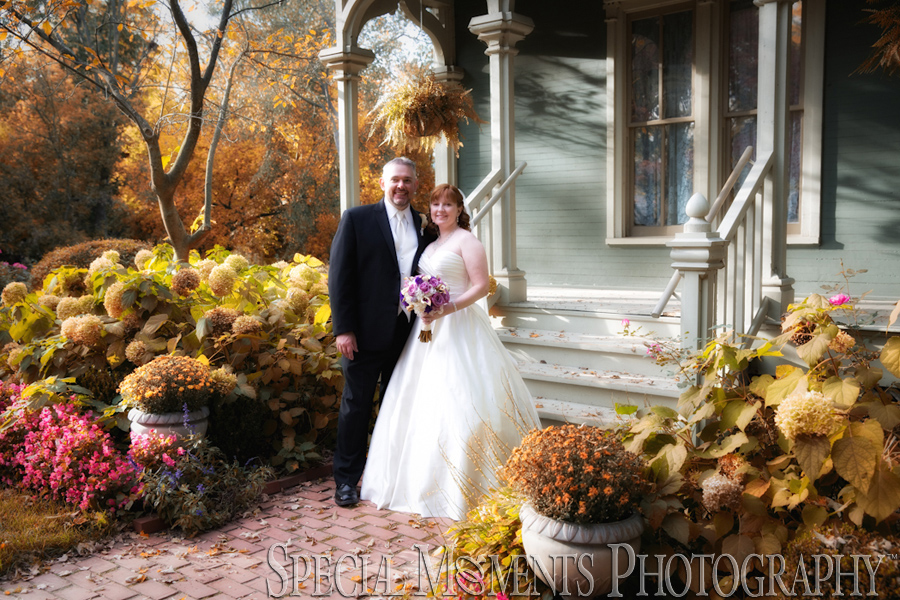 Mill Race Village Northville MI wedding photograph
